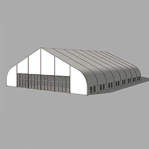 big curve industrial warehouse tent for storage