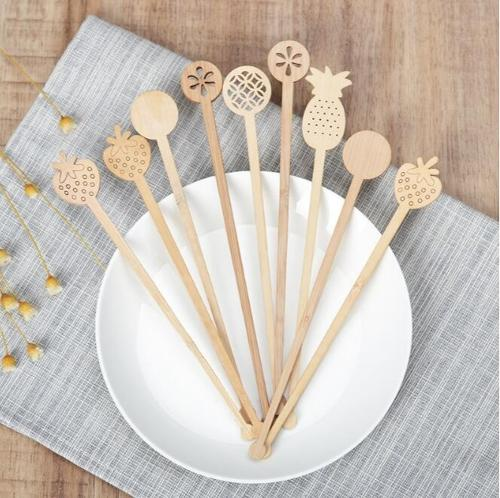 Bamboo or wood coffee stirrer