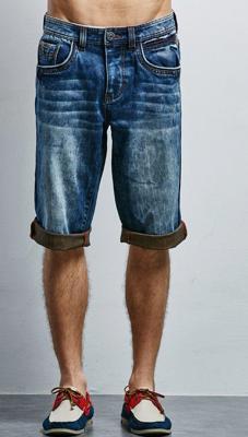 Pantalones cortos de verano de mezclilla para hombre al por