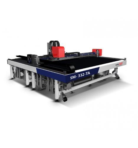 Multiple Tool Digital Cutting Plotter with Conveyor