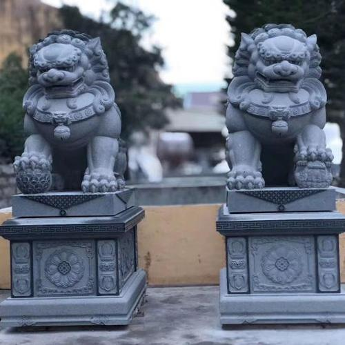 Granite Animal Carving Stone Liona Carving