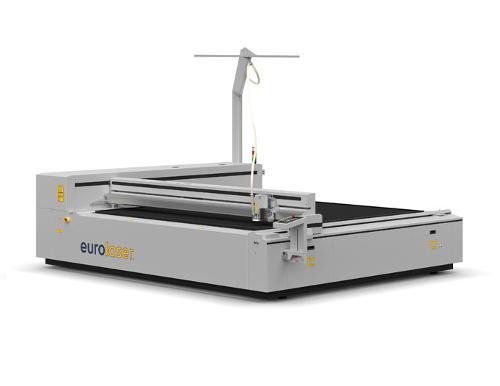 Laser cutting machine for textiles