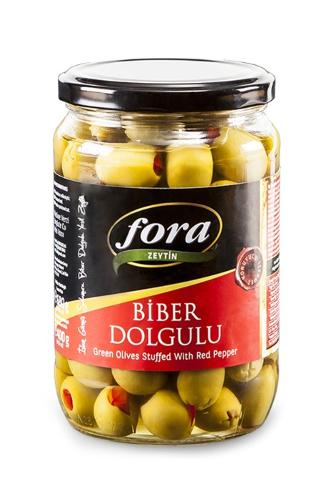 Red Pepper Stuffed Green Olives