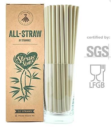 All-Straws - Bio Einweg-Trinkhalme aus Pflanzenfasern