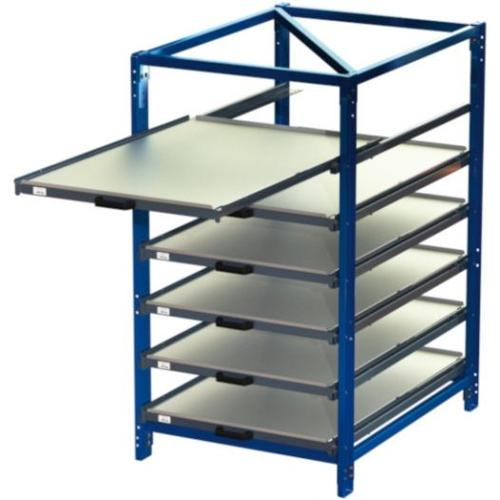 Compact pull-out rack 70 % with 3 - 7 shelves