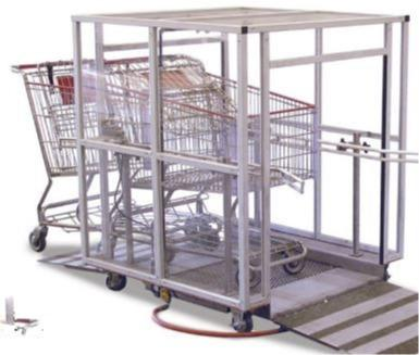Shopping trolley disinfection systems