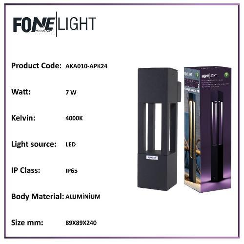 FoneLight Alüminyum Led Duvar Apliği AKA010-APK24
