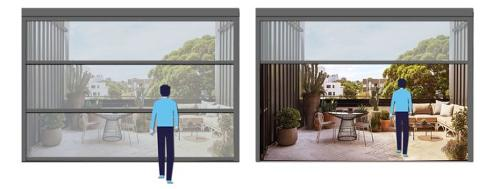 Motorized aluminium window system with remote control