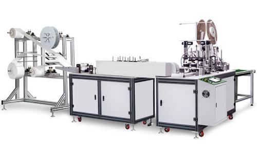 Disposable automatic mask machinery with 3 layer