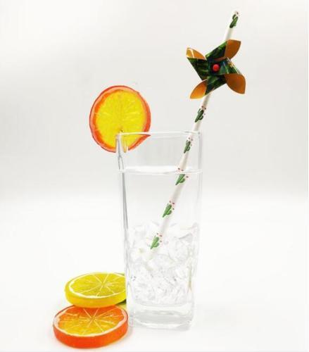 Printed drinking straw