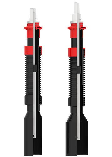 Telescopic spindle extension T3 acc. to DVGW GW336