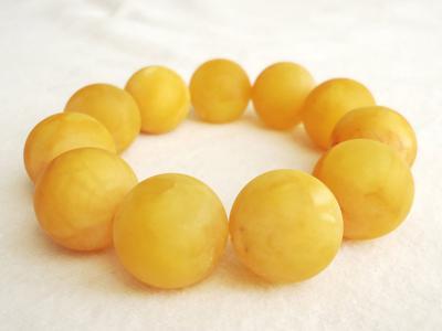 Amber bracelets matte, Chinese honey