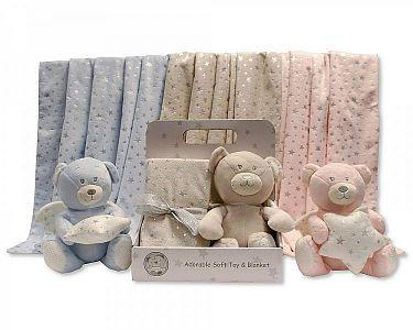 Baby Bear Toy with Blanket in Box