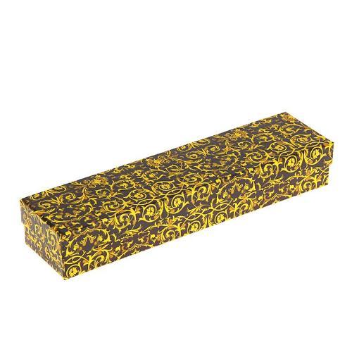 Подарочная коробка (3шт.в уп.) лилии золотые 26х6х4см