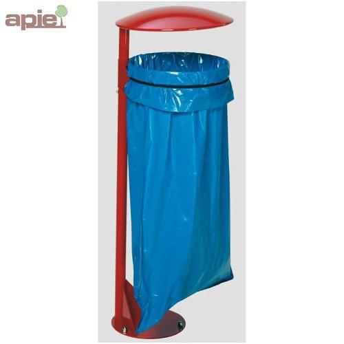 Support sac poubelle avec poteau sur platine