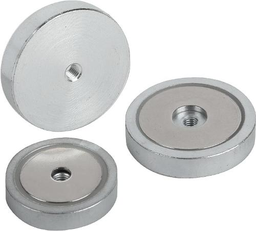 Magnets Shallow Pot With Internal Thread Ndfeb