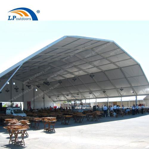 Carpa de carpa de techo poligonal gaint de 40 m para confere