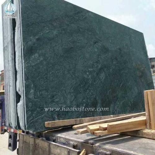 Big Flower Green Granite Slabs Tiles
