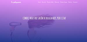 Diseño de página web para Peluquerías