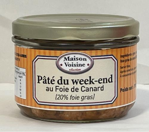 pâté au foie gras 20 % (conserve)
