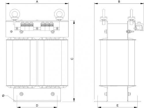 Trenntransformatoren - Einschaltstrombegrenst - Energieeffizient