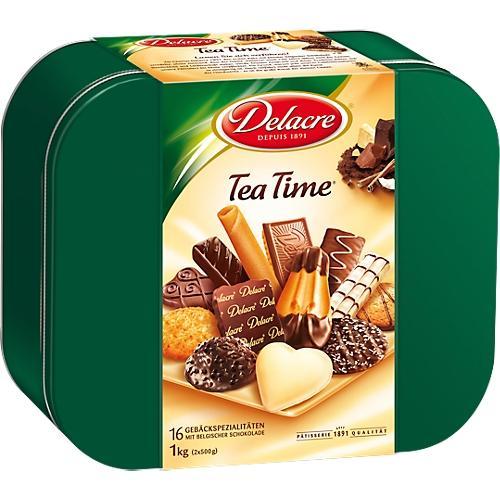 Assortiment de biscuits tea time 1kg - DELACRE