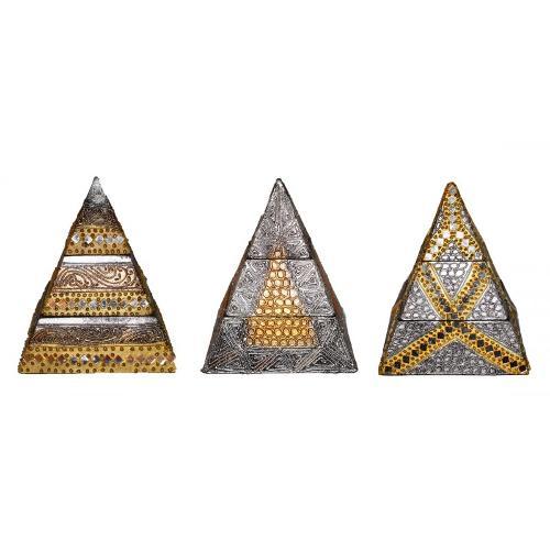 Joyero Pirámide Madera 20cm