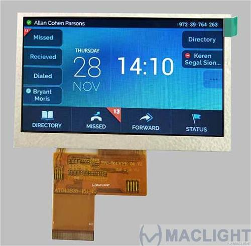 4.3 inch tft lcd display module with capacitive touch