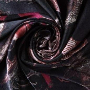 Digital printed 100% silk satin silk fabric