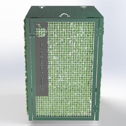 Abri Cache Poubelle Verdoyant Recyclage Organique