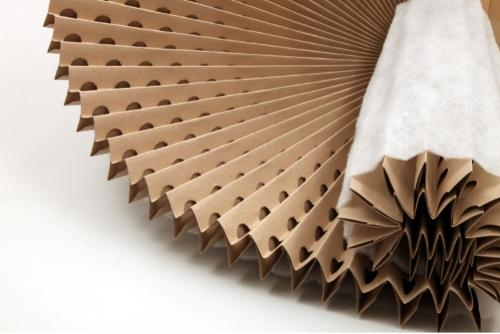 Pleated paper concertina filter with polyester media