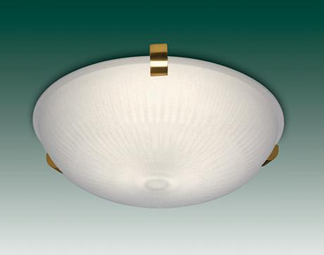 Round glass ceiling lamp