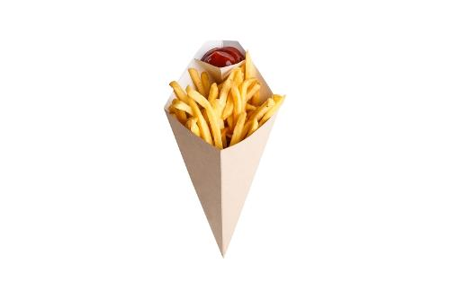 Chip cone with dipping pocket