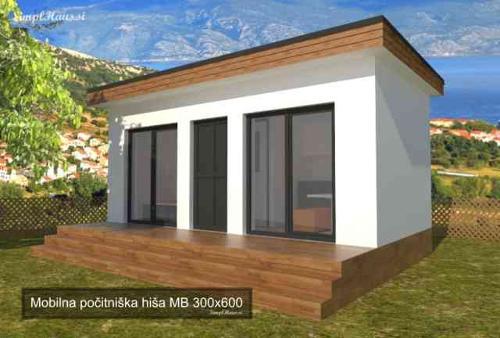 Mobilna hiša 300x600 počitniška