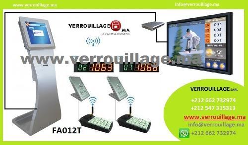 Borne de gestion de file d'attente FA012T