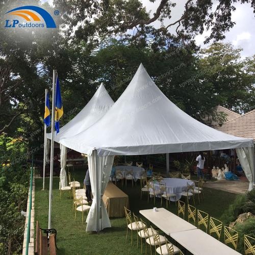 6x6 м водонепроницаемый белый пагода беседка палатка для фес