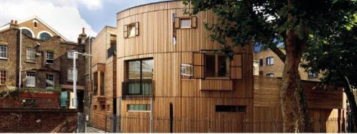 Wooden semi-products for facades