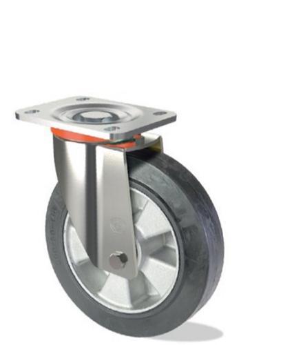 Ruota in gomma elastica con nucleo in alluminio