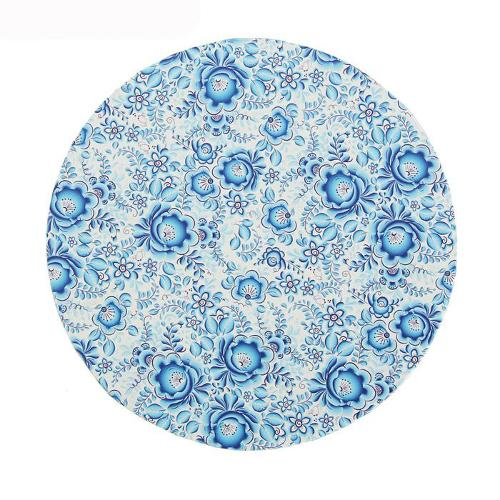 Набор круглых коробок №11 3 в 1 голубые цветы 30х30х15...