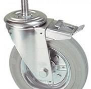 Roulettes pivotants à tige acier filetée ou lisse