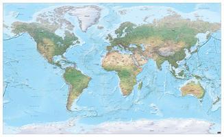 natuurkundige wereldkaart xxl
