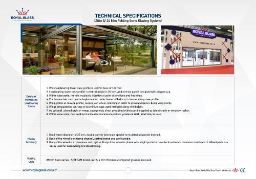 Royal Glass Asso Sliding Series Technical Glazing System