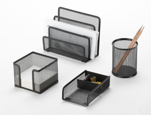 Metal Mesh Stationery Office Set