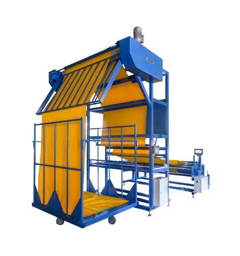 Перемоточная машина для укладки материала в стопку B02