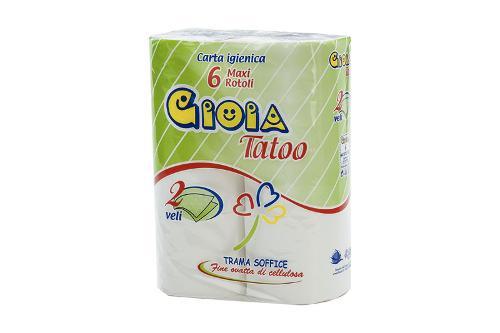 GIOIA TATOO – carta igienica 6 rotoli