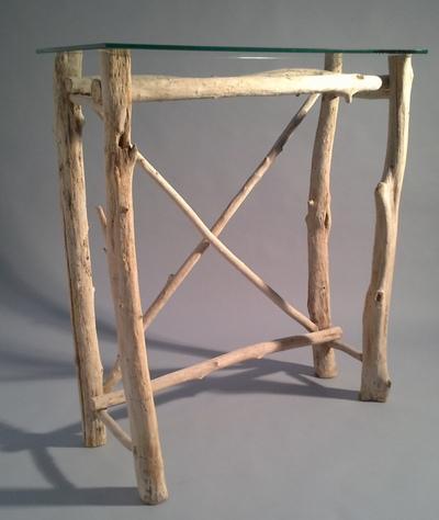 Console en branches de bois flotté