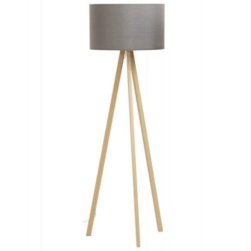 Lampe sur pied de style scandinave TRANI en tissu...