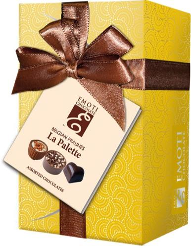 EMOTI Gold Ballotin Assorted Chocolates, Gift packed 190g. S