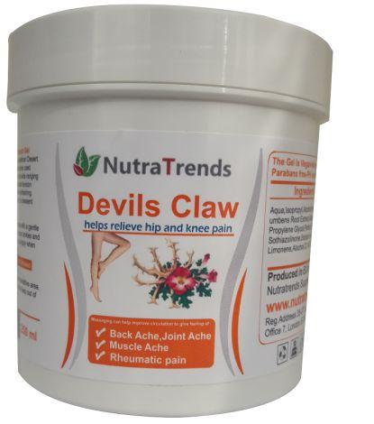 Devils Claw extract cream natural remedy for back pain, musc