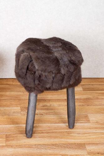 Rabbit Fur Stool